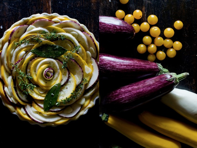 Tarte aubergine