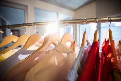 Clothes in a dressing